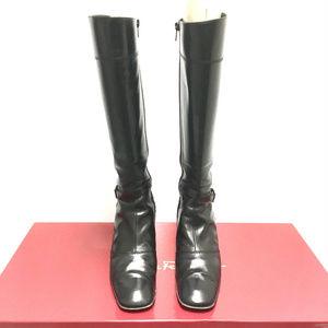 Riding Boots Golette Ne Black Calf Leather 7.5 AA